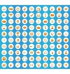Hi-Tech icons round set vector
