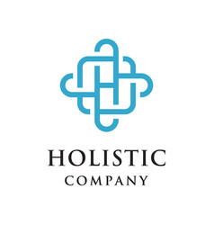 holistic logo vector image