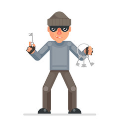 housebreaker thieves keys picklock hand evil vector image