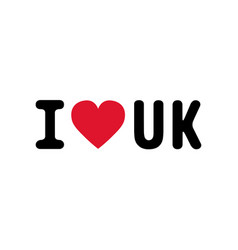 I love uk2 vector