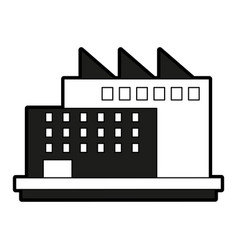 Industrial plant factory vector