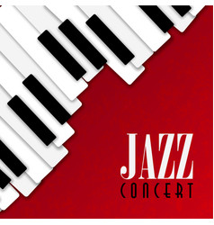 Jazz concert poster with piano background vector