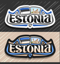 Logo for estonia vector