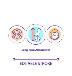 long-term alternatives concept icon vector image