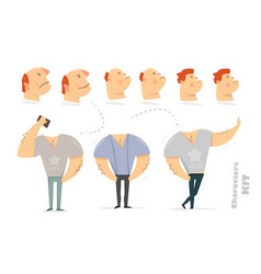 man character creation set for animation vector image