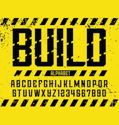 Modern professional alphabet build custom vector