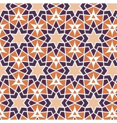 mosaic orange purple stars Repetition vector image