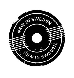 New in sweden rubber stamp vector