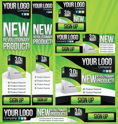 New Product 6 Banner Set vector