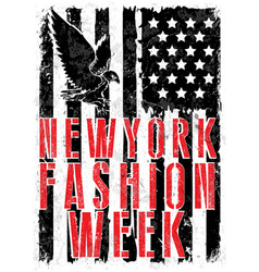 new york fashion typography t-shirt graphics vector image