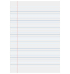 Notebook paper with lines vector