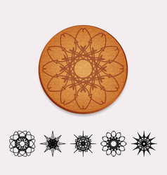 Ornamental cork beer coaster vector