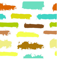 pastel watercolor strokes hand painted seamless vector image