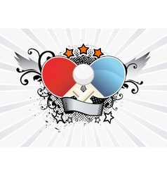 Ping Pong Emblem vector