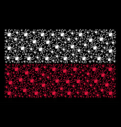 polish flag pattern of spider items vector image