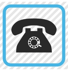 Pulse Phone Icon In a Frame vector