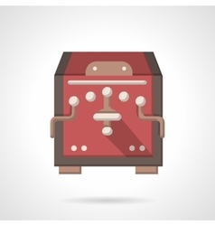 Red coffee equipment flat color icon vector image