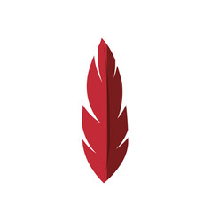 Red feather icon vector