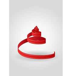 Red spiral ribbon vector