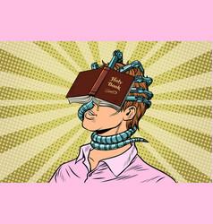 religious fanatic man vector image