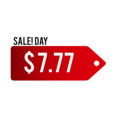 sale day 777 red tag background image vector image