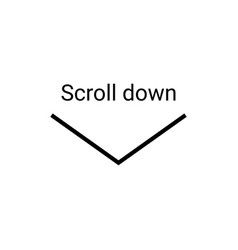 scroll down icon scrolling sybmol for web design vector image