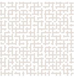 Seamless pattern maze geometric texture vector