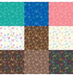 seamless patterns with ribbon vector image