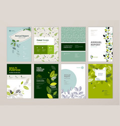 set of brochure and annual report design tempaltes vector image