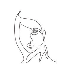 single continuous line drawing beautiful vector image