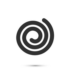 Spiral icon flat black sign on a white background vector