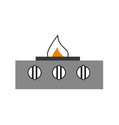 stove gas kitchen icon vector image