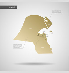 stylized kuwait map vector image