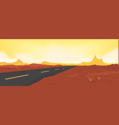 Summer desert road vector