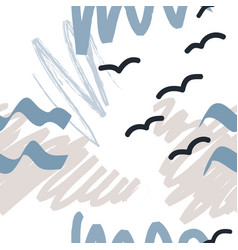 Trendy creative seamless pattern vector