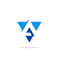 Triangle letter a business logo vector