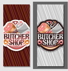 Vertical banners for butcher shop vector