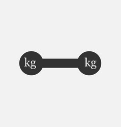 weight kilogram barbell icon vector image