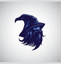 Wizard sorcerer logo design mascot vector