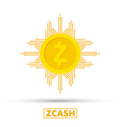 Zcash concept cryptocurrency logo sigh digital vector