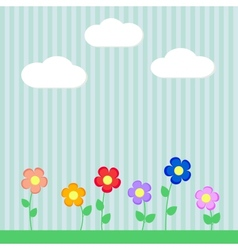 Background with flowers for scrapbook vector image vector image
