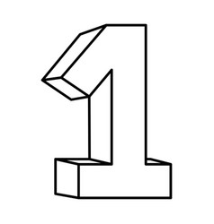 figure number one icon vector image vector image