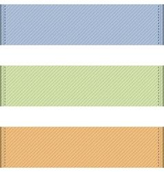 Horizontal ribbons vector image vector image
