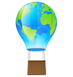 hot air balloon globe vector image