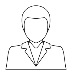 Man in business suit icon outline style vector image