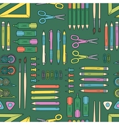 seamless stationery pattern School and vector image