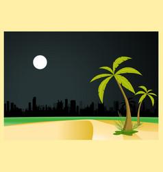 urban beach by night vector image