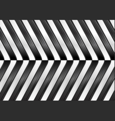 Black and white abstract glossy stripes vector