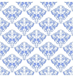 damask seamless on white background vector image