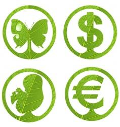 green emblem vector image
